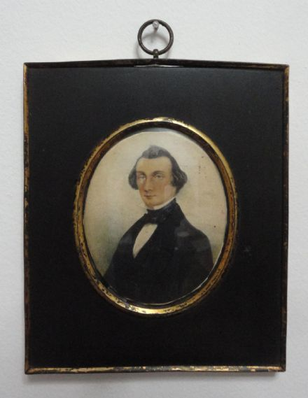 Thomas Jones of Llanerchrugog Hall in Wrexham Wales 19th Century Welsh Miniature